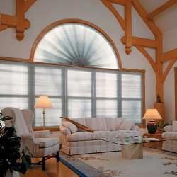 Perfect Double Cell Light Filtering Arch Shades (Stationary)