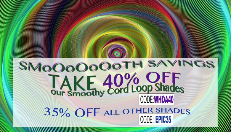 Save 40% on Smoothy shades!